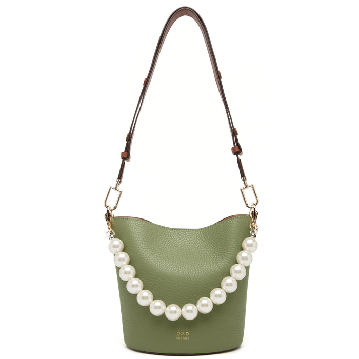 Ava Bag - Olive + Beige + Brandy