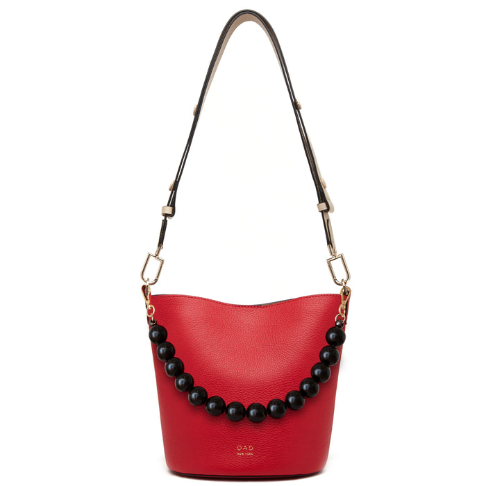 Ava Bag - Rouge + Caramel + Beige