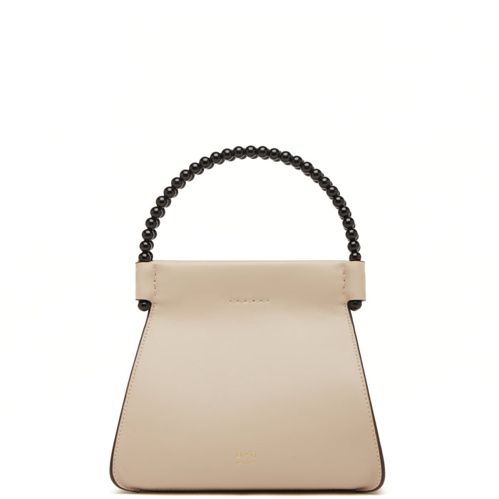 Calf Mini B Isla Bag - Beige + True Black