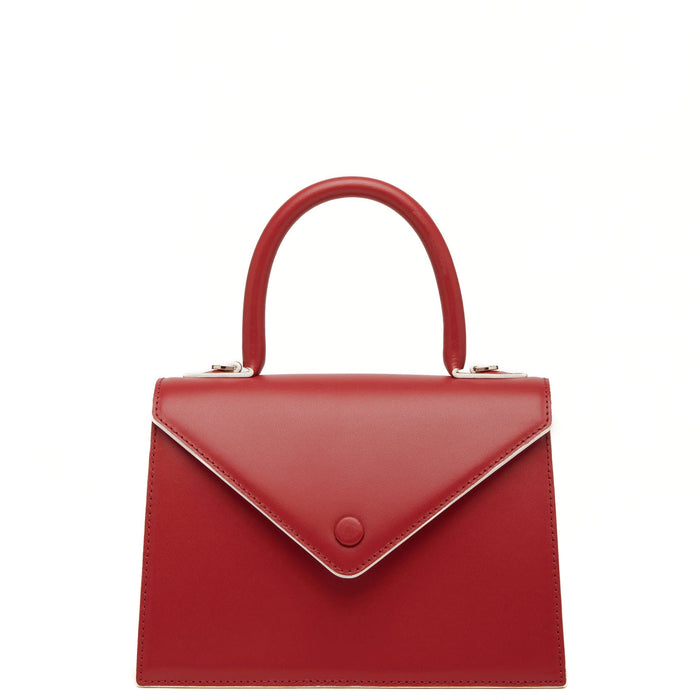 Mini Agnes Satchel - Brick Red