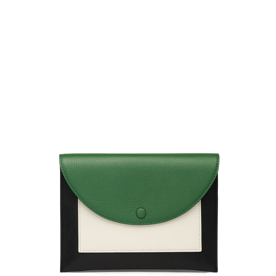 Assembly Chain Clutch - Fern + True Black + Soft White - OAD NEW YORK