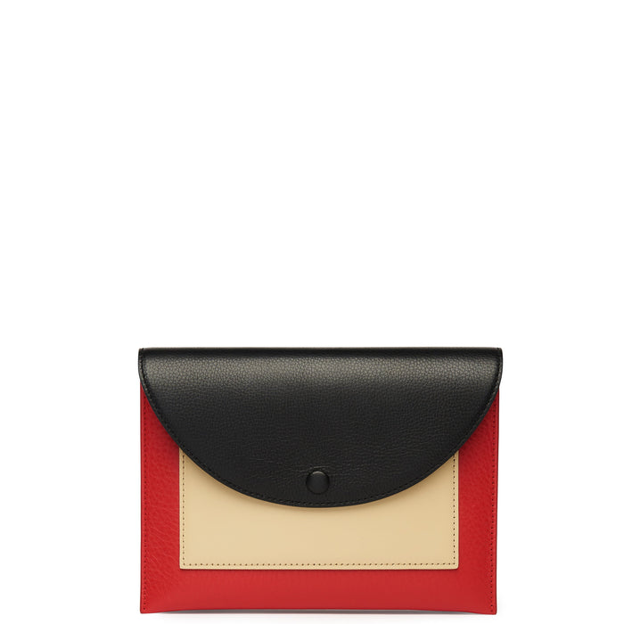 Assembly Chain Clutch - True Black + Rouge + Sand - OAD NEW YORK