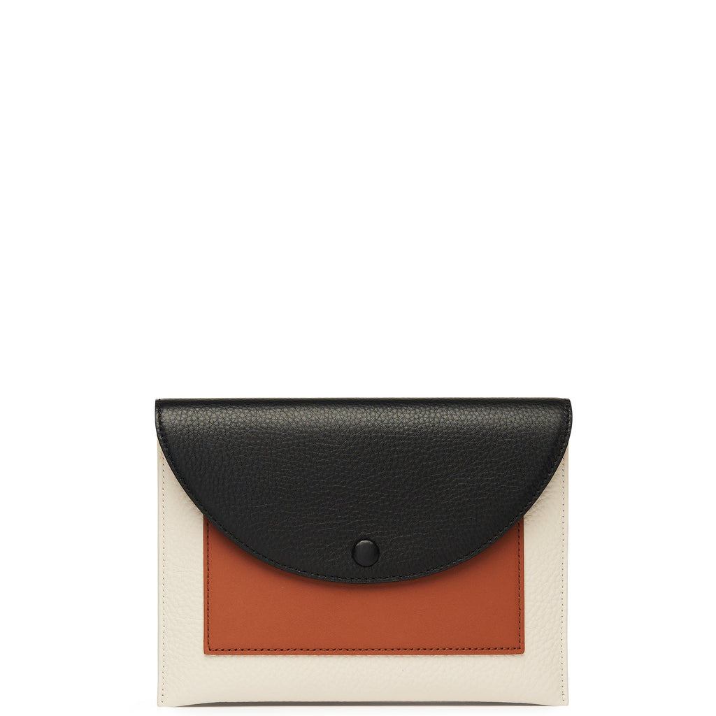 Assembly Chain Clutch - True Black + Soft White + Sienna - OAD NEW YORK