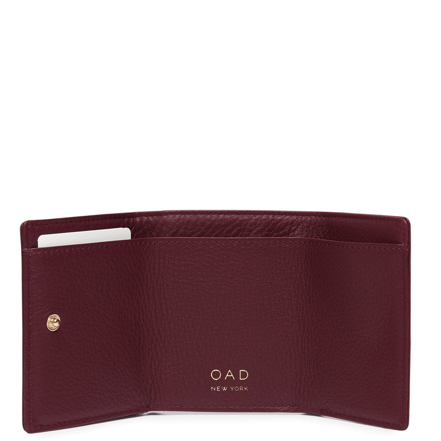 Assembly Mini Wallet - Bordeaux - OAD NEW YORK