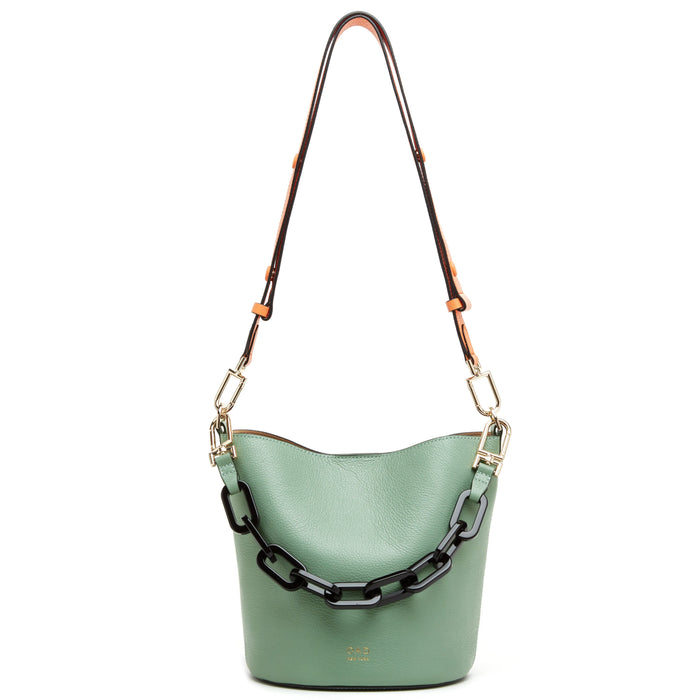 Ava Bag - Celadon + Midnight Blue + Coral