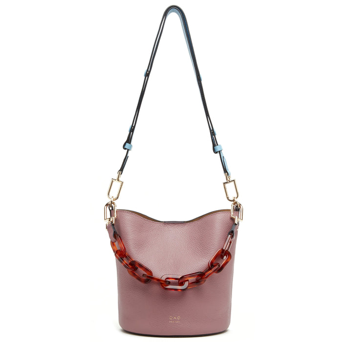 Ava Bag - Dark Rose + Creme + Waterfall - OAD NEW YORK