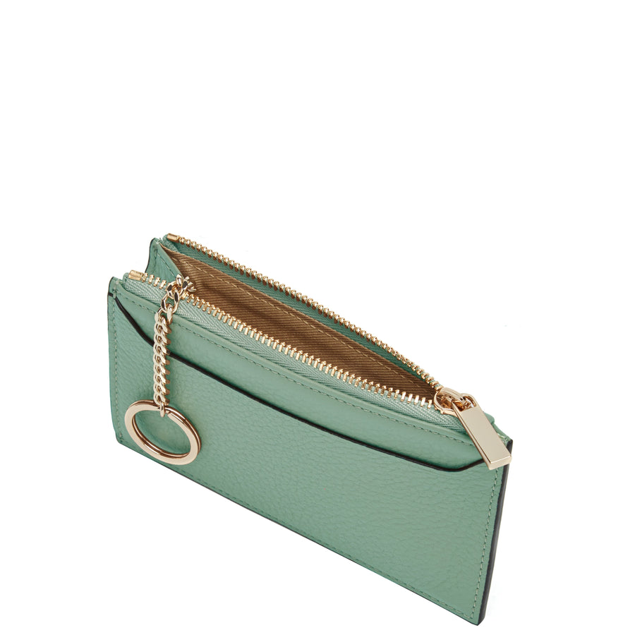 Billy Zip Card Case - Celadon - OAD NEW YORK