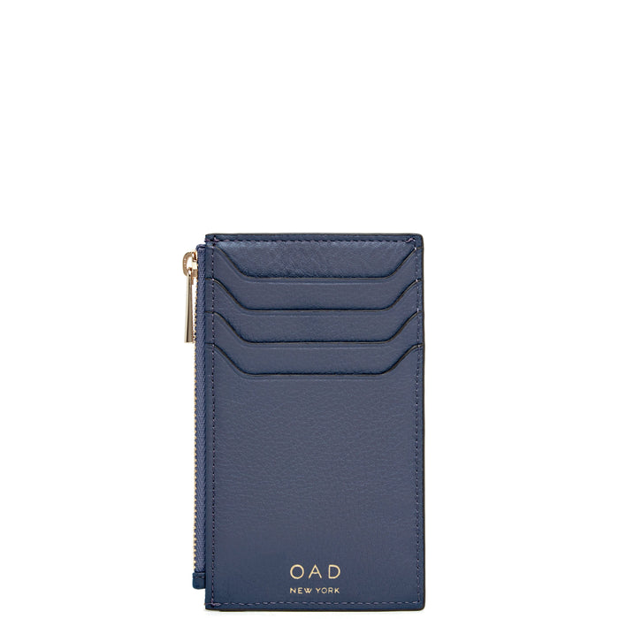 Billy Zip Card Case - Midnight Blue - OAD NEW YORK