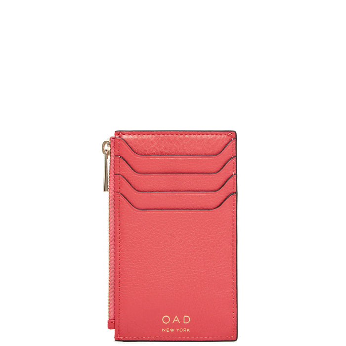 Billy Zip Card Case - Poppy - OAD NEW YORK