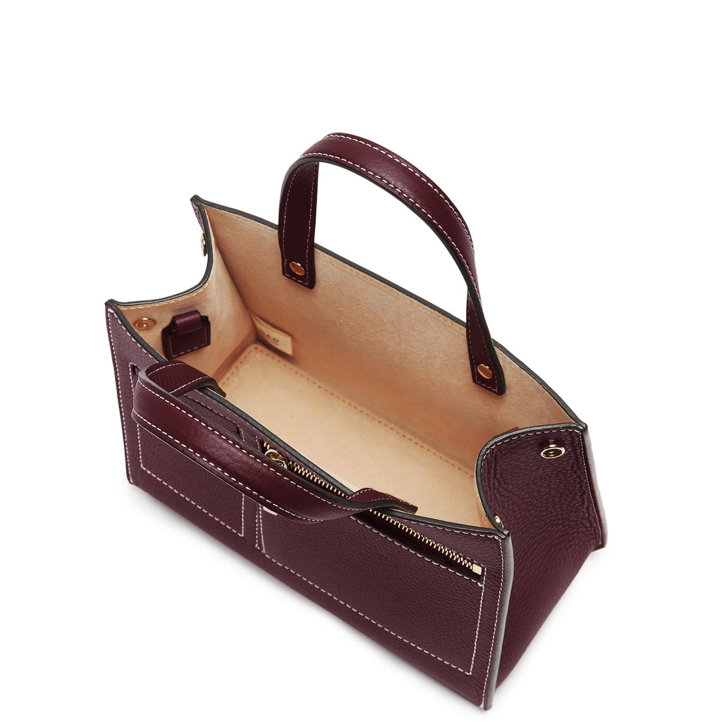CL Mini Pocket Tote - Bordeaux - OAD NEW YORK