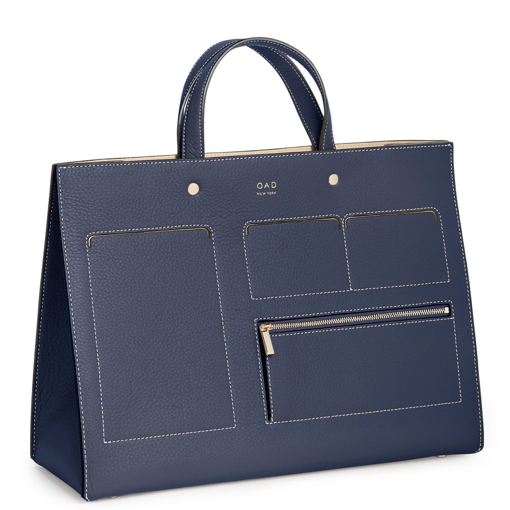 CL Pocket Grand Tote - Midnight Blue - OAD NEW YORK