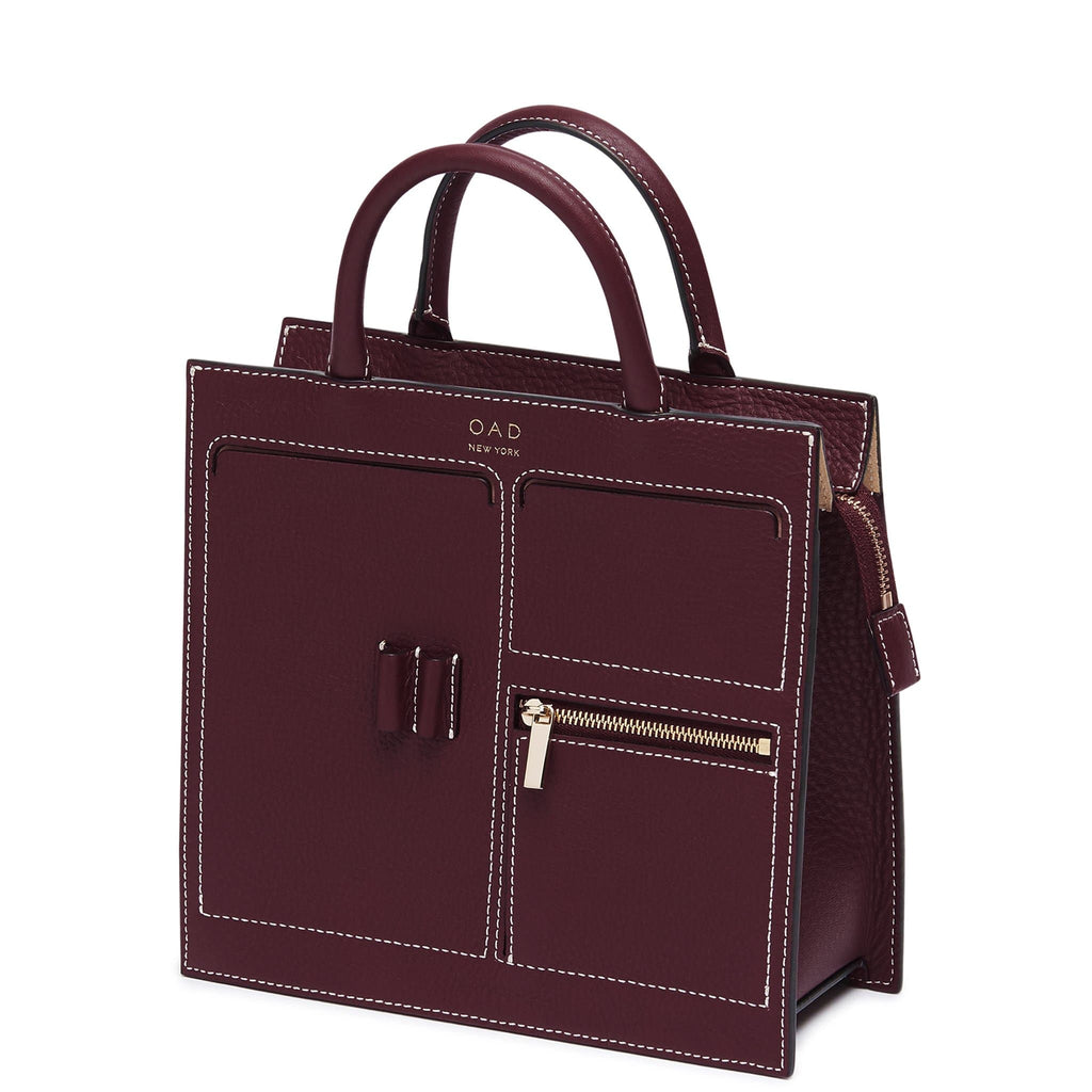 C Mini Kit Zip Satchel - Bordeaux - OAD NEW YORK