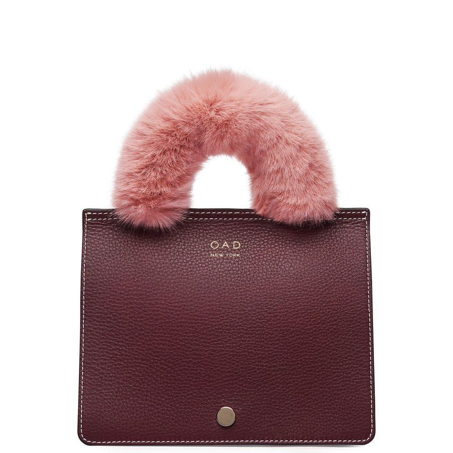 Faux Fur Handle Cover Mini - Blush - OAD NEW YORK