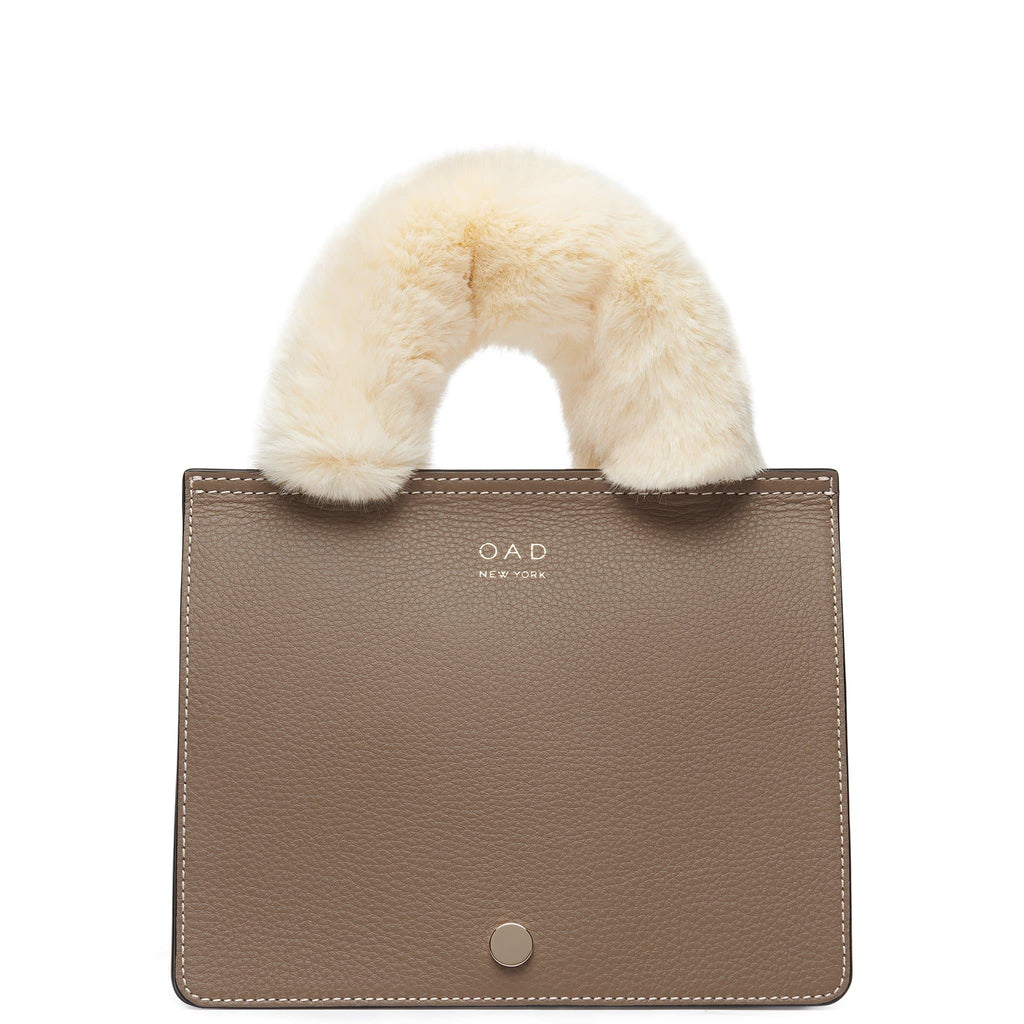 Faux Fur Handle Cover Mini - Creme - OAD NEW YORK