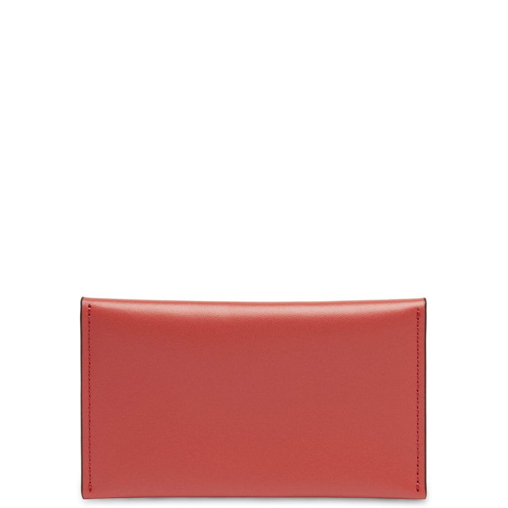 Calf Carryall Card Case - Rosewood + Soft White - OAD NEW YORK