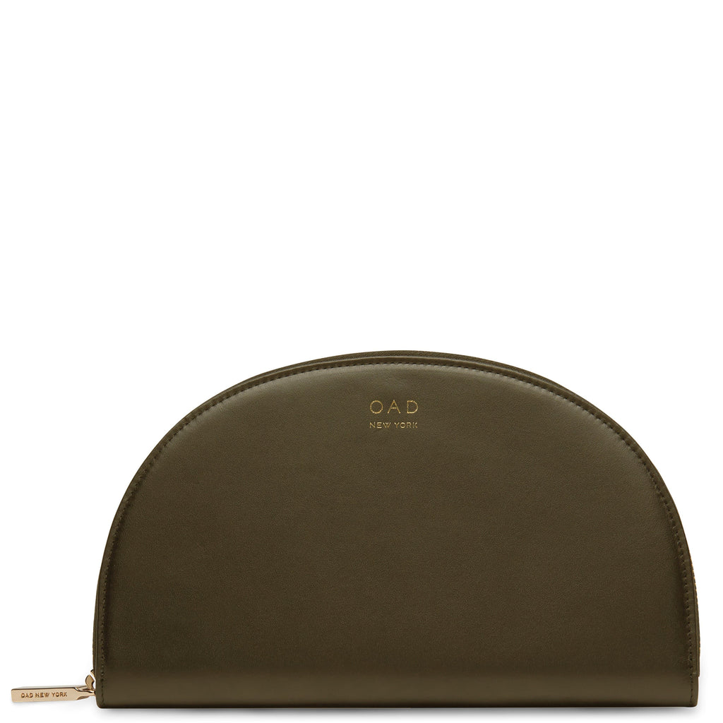 Calf Dia Continental Mirror Wallet - Moss - OAD NEW YORK