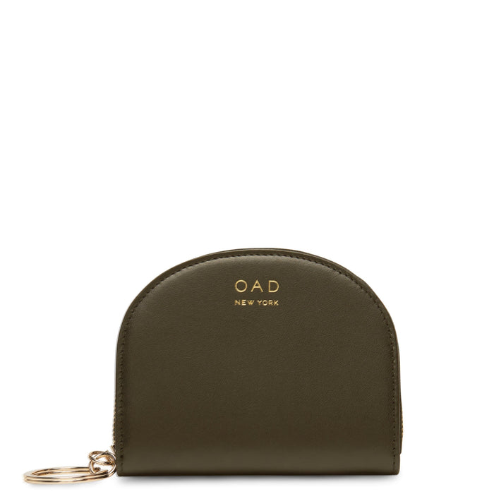 Calf Dia Mini Mirror Wallet - Moss - OAD NEW YORK