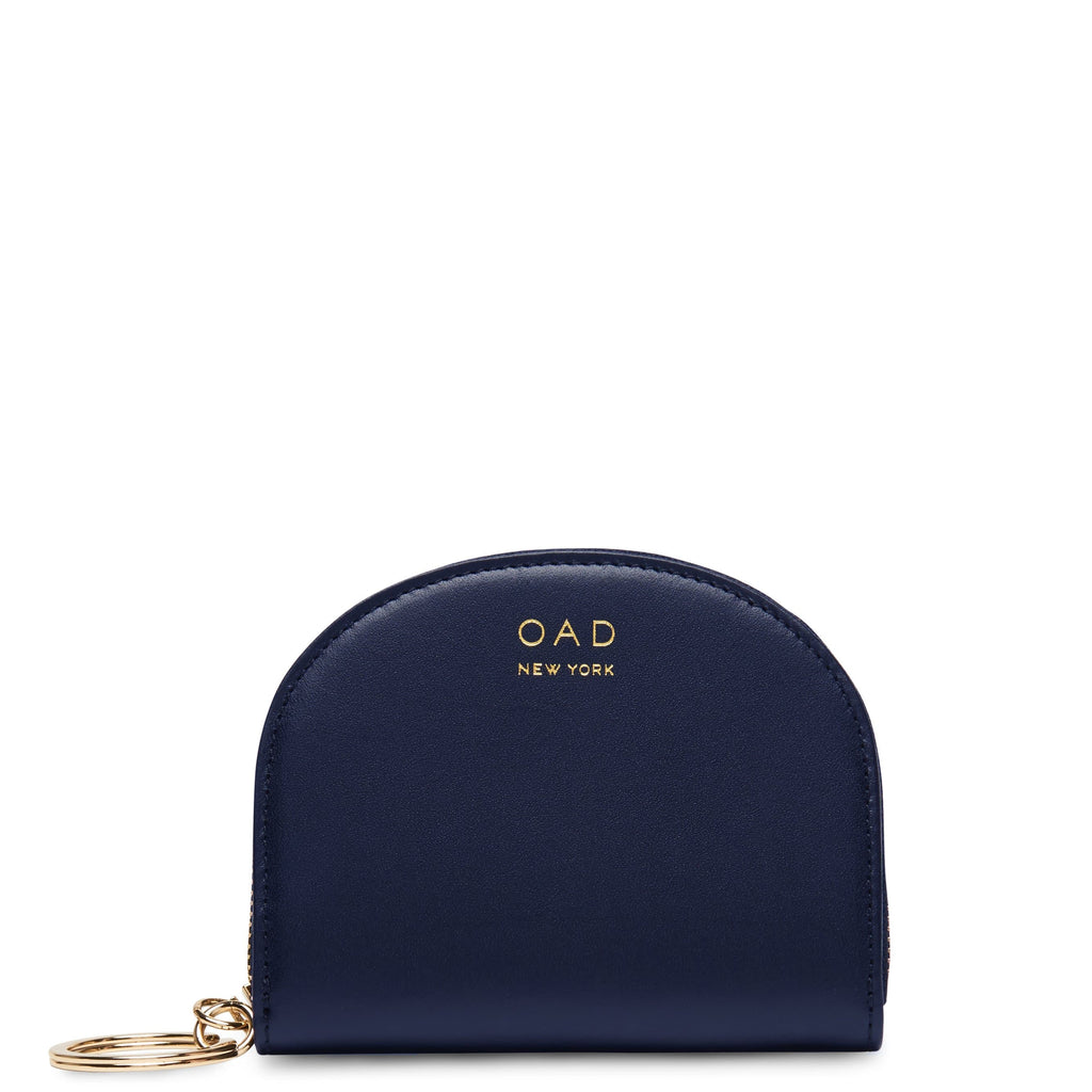 Calf Dia Mini Mirror Wallet - Navy Blue - OAD NEW YORK