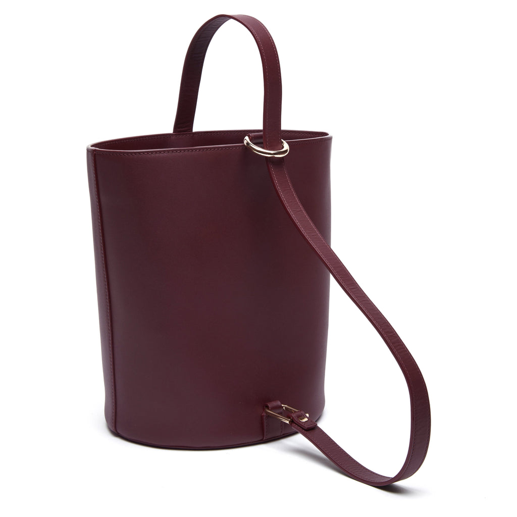 Calf Dome Bucket Bag - Bordeaux - OAD NEW YORK