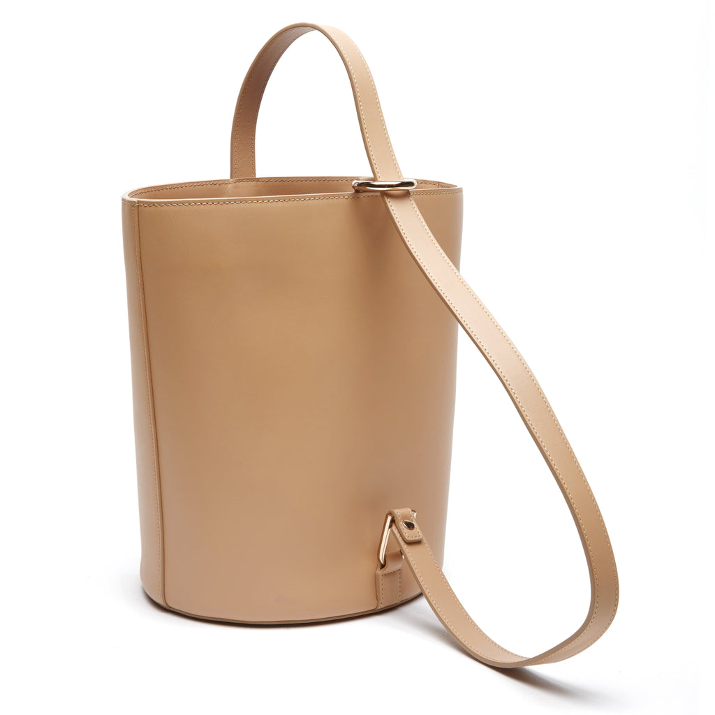 Calf Dome Bucket Bag - Light Camel - OAD NEW YORK