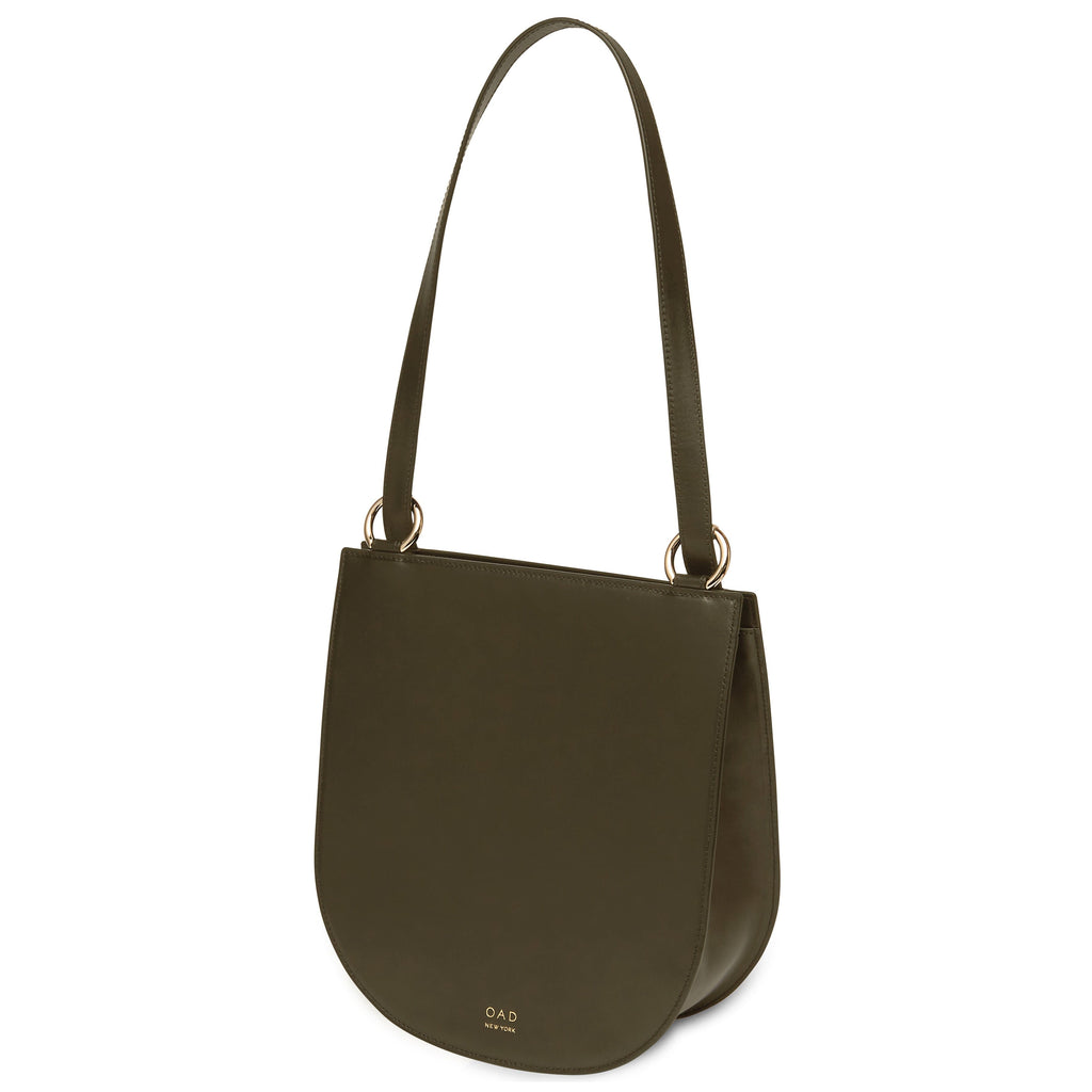 Calf Dome Hobo - Moss - OAD NEW YORK