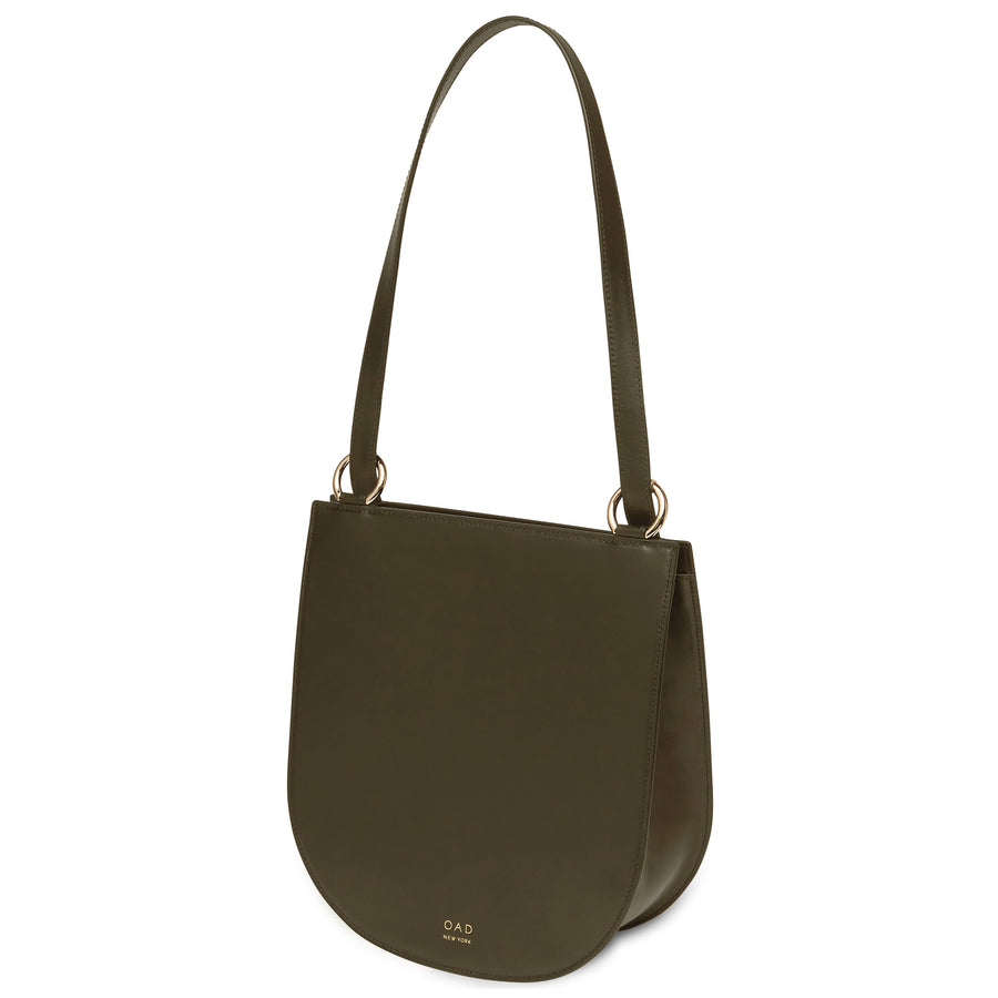 Calf Dome Hobo - Moss (s) - OAD NEW YORK