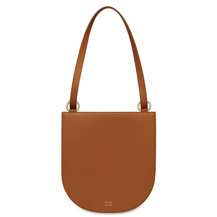 Calf Dome Hobo - Saddle Brown - OAD NEW YORK