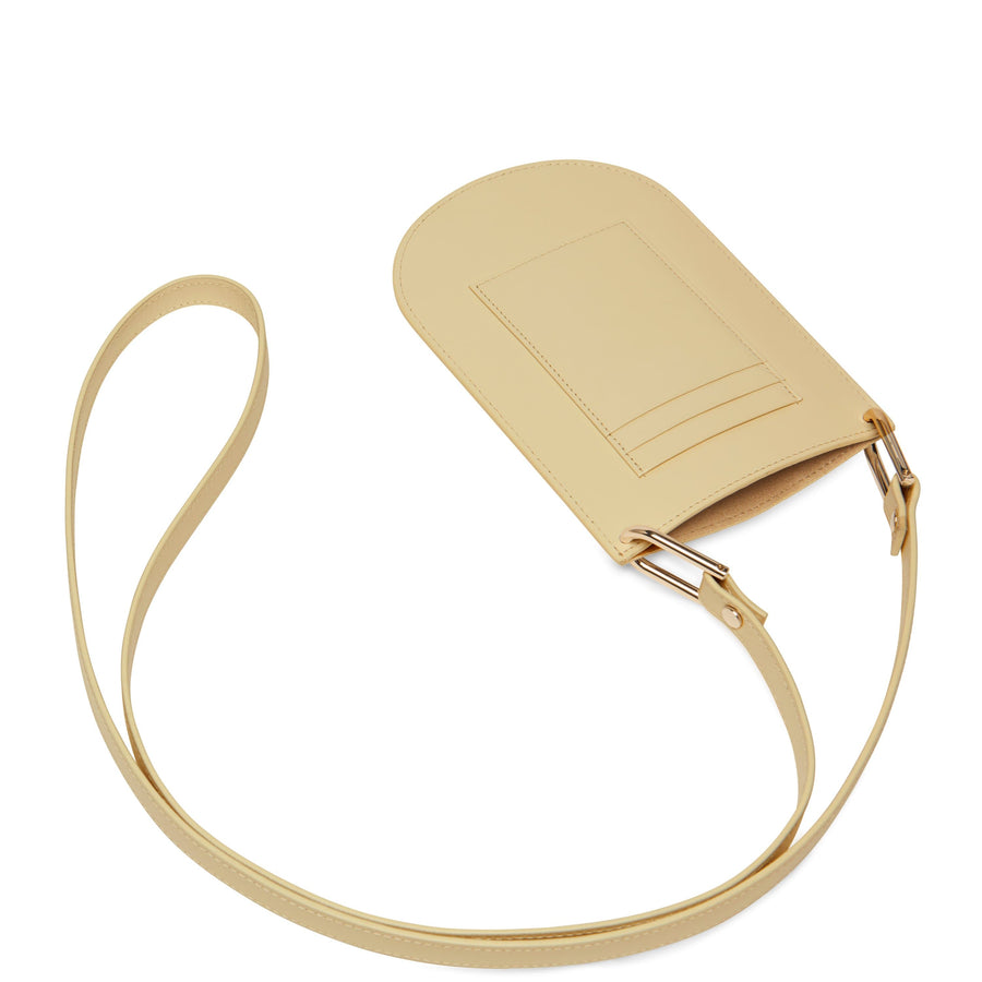 Calf Dome Mini Pouch Crossbody - Toasted Almond - OAD NEW YORK