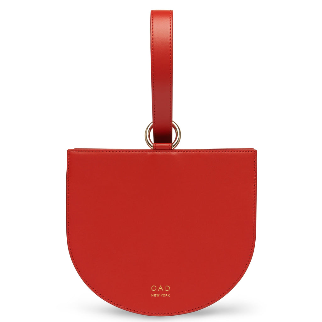 Calf Dome Wristlet - Classic Red - OAD NEW YORK