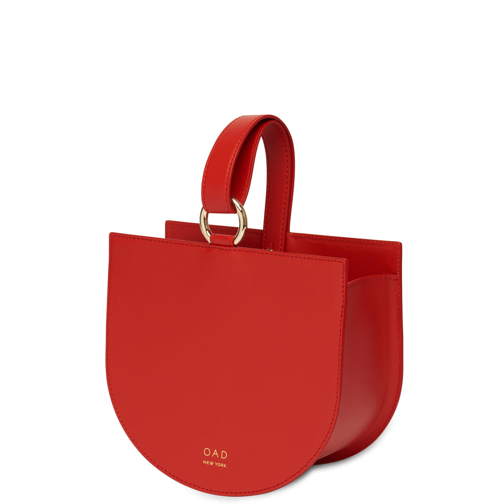 Calf Dome Wristlet - Rouge - OAD NEW YORK
