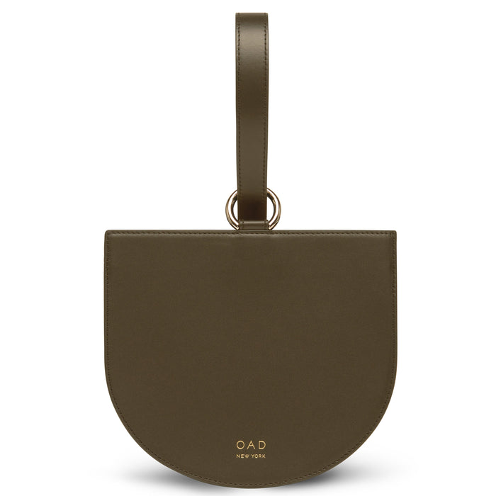 Calf Dome Wristlet - Moss (s) - OAD NEW YORK