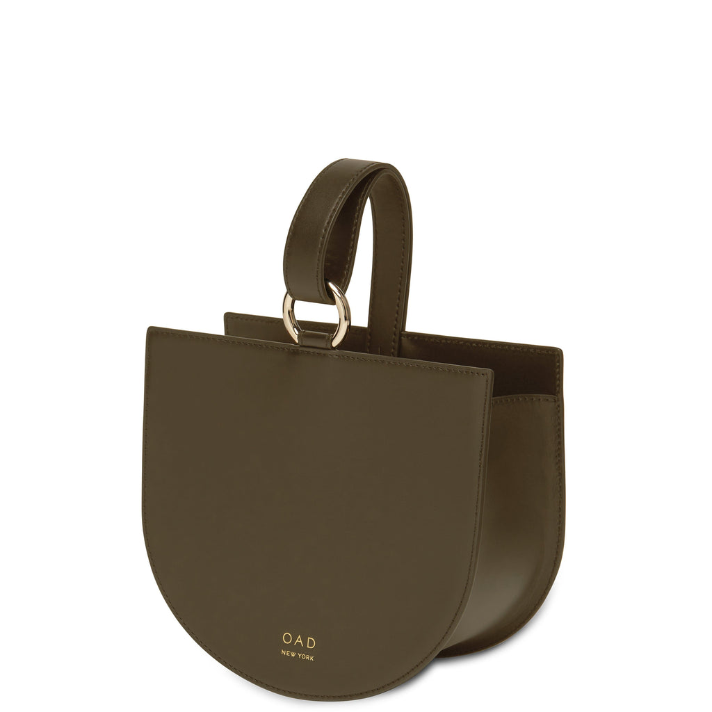 Calf Dome Wristlet - Moss - OAD NEW YORK