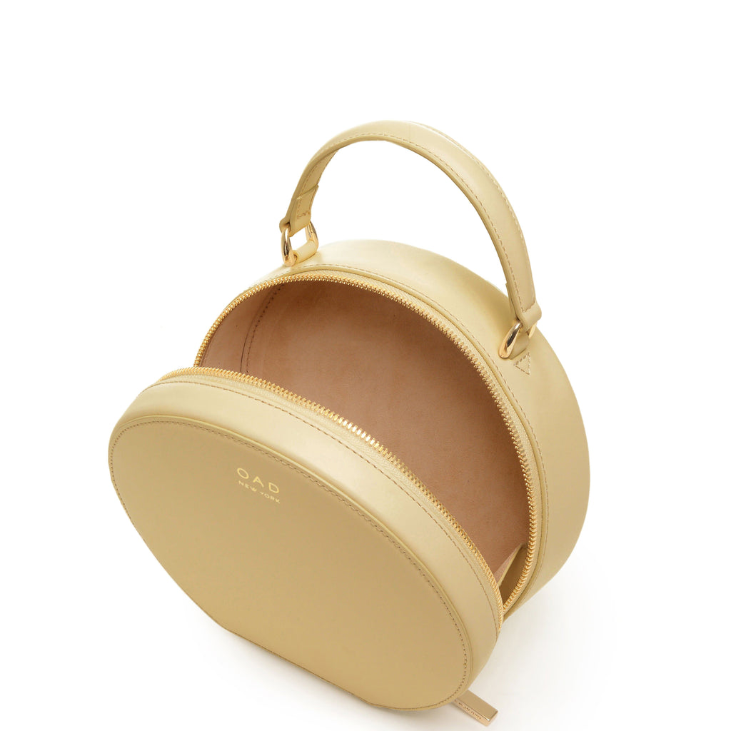 Calf Mini Circle Satchel - Toasted Almond - OAD NEW YORK