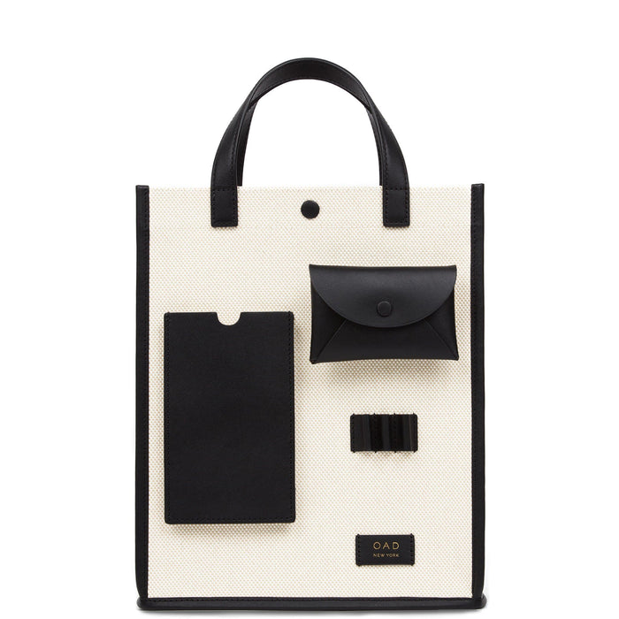 Canvas Pocket Courier - True Black + Sand - OAD NEW YORK