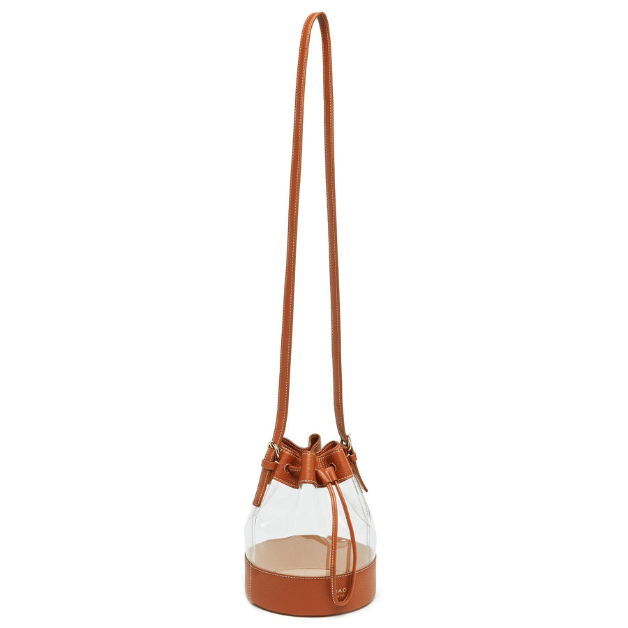 Clear Marta Bag - Mahogany - OAD NEW YORK