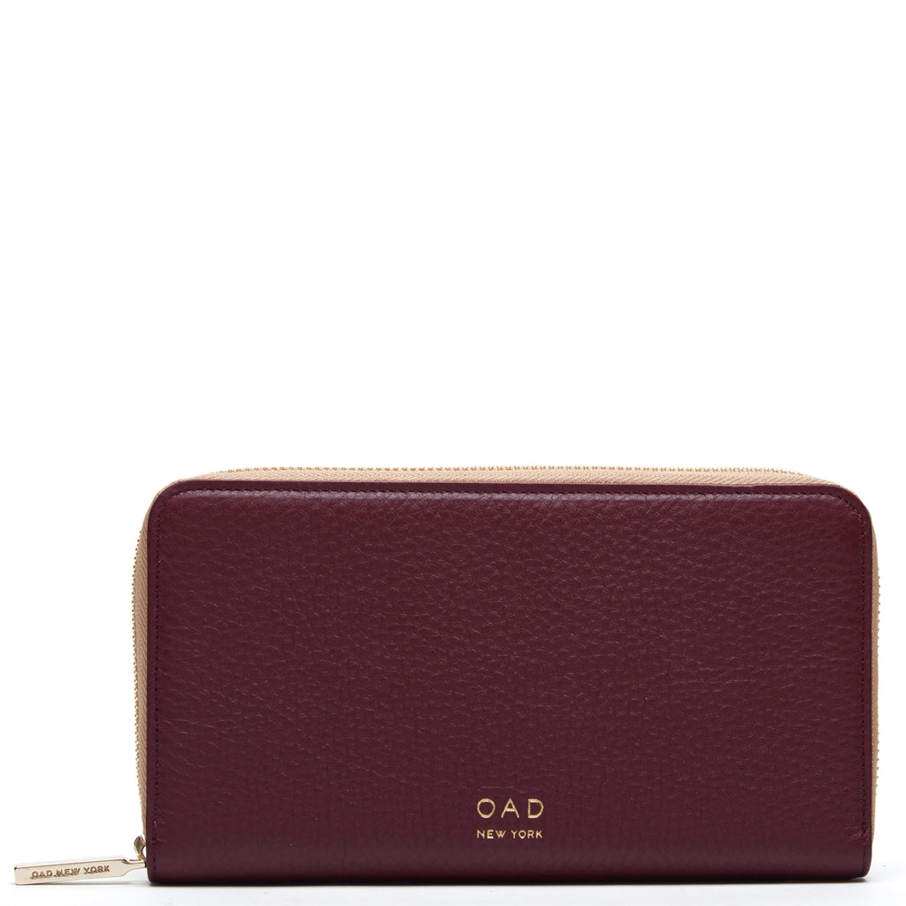 Continental Carryall Wallet - Bordeaux + Camel - OAD NEW YORK