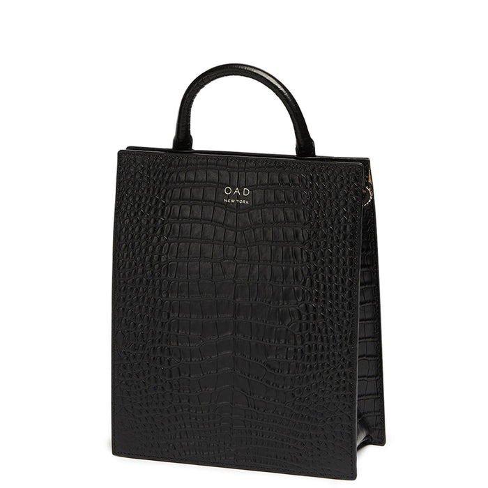 Croco Mini Arc Backpack - True Black - OAD NEW YORK