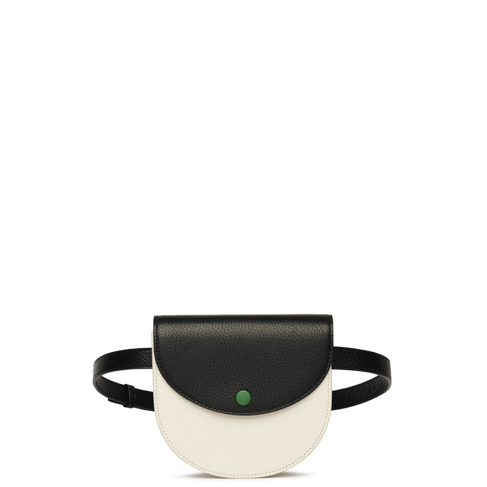 Demi Belt Bag - Soft White + True Black + Fern - OAD NEW YORK
