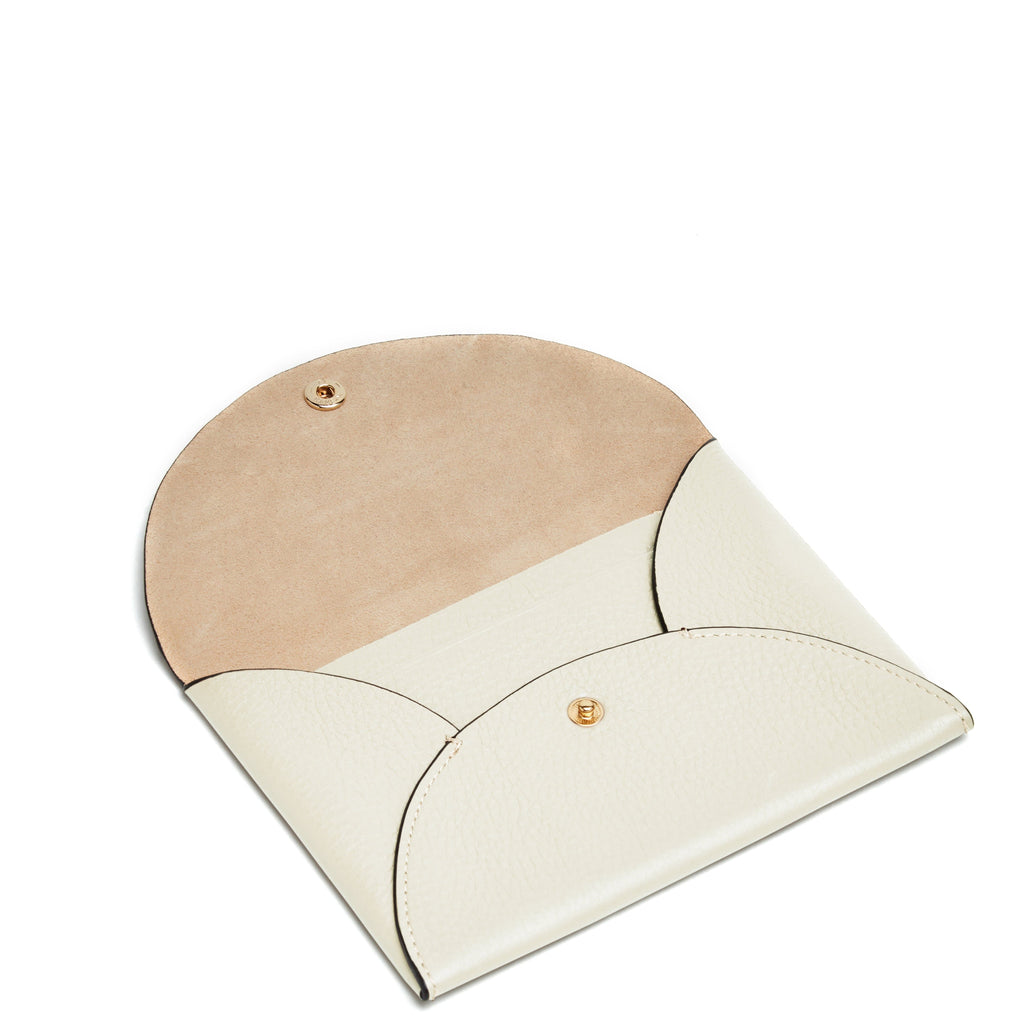 Envelope Travel Clutch - Creme