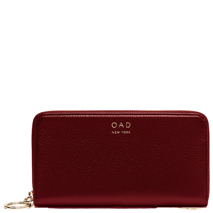 Full Zip Around Wallet - Dark Wine - OAD NEW YORK