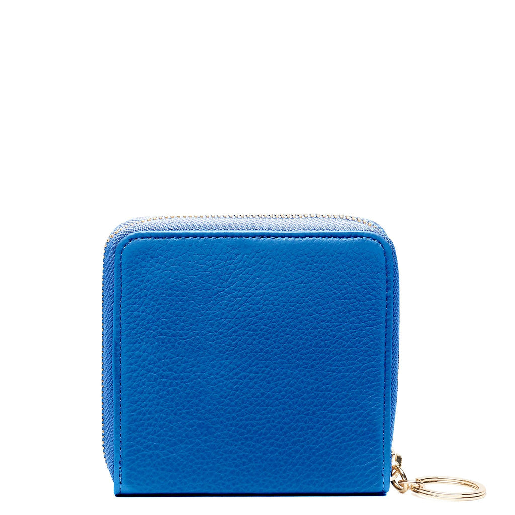 Half Zip Around Wallet - Sea Blue - OAD NEW YORK