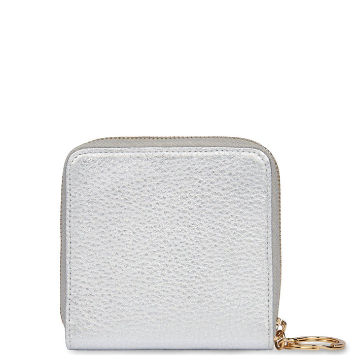 Half Zip Around Wallet - Silver - OAD NEW YORK