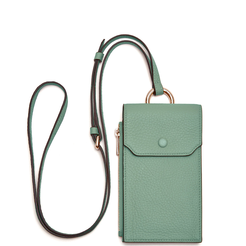 Izzi Phone Crossbody - Celadon - OAD NEW YORK