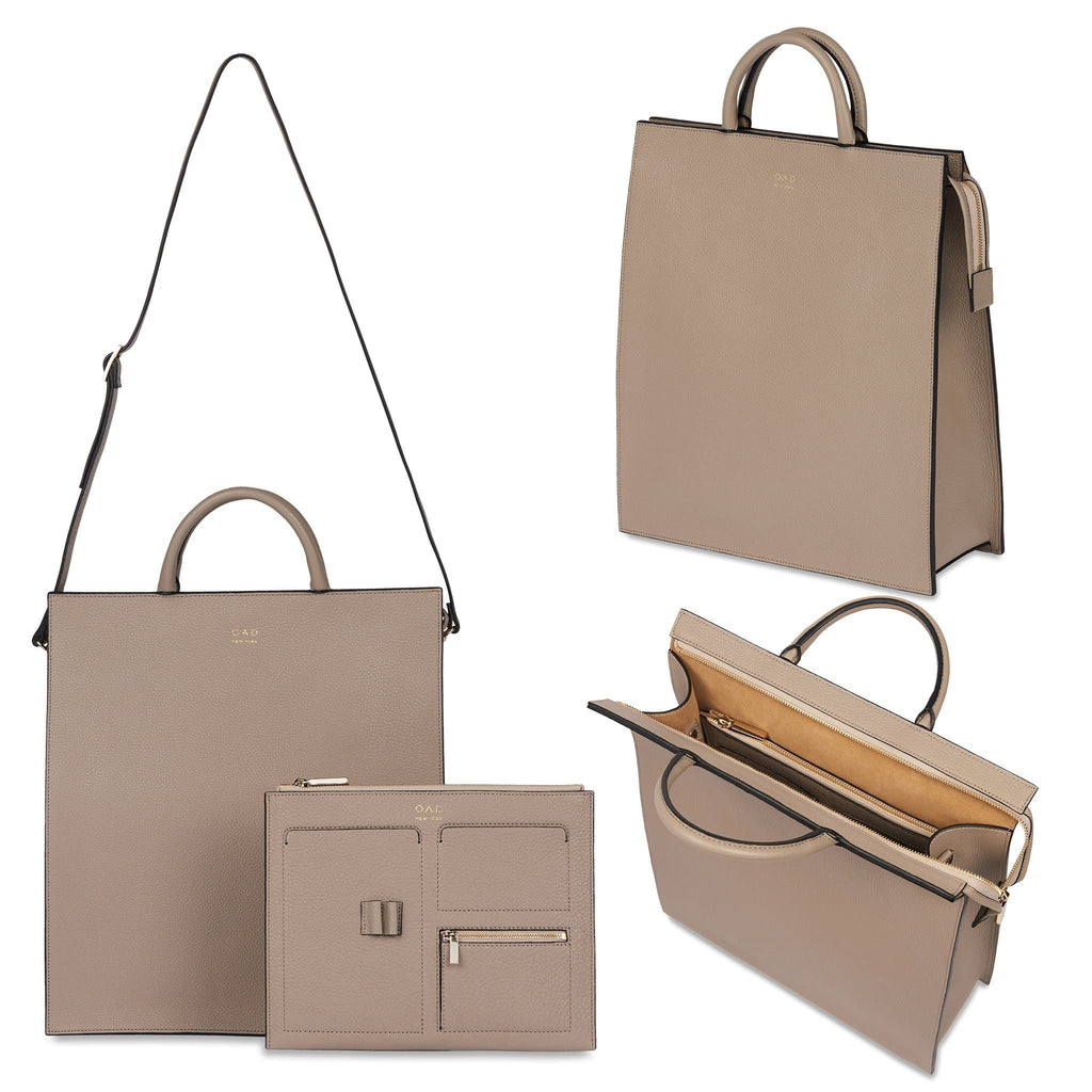 Long Work Tote - Taupe - OAD NEW YORK