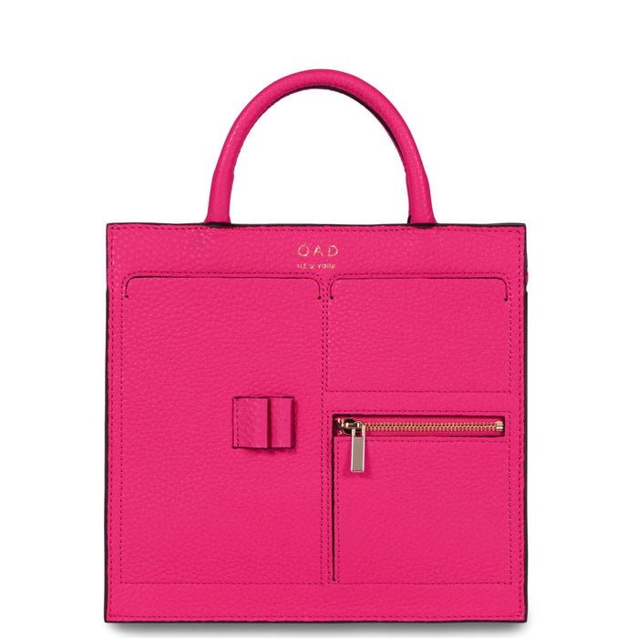Mini Kit Zip Satchel - Ruby Pink - OAD NEW YORK