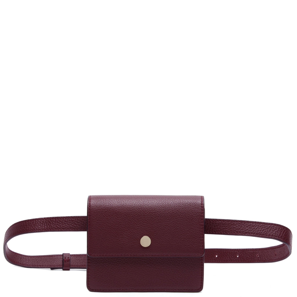 Mini Messenger Belt Bag - Bordeaux - OAD NEW YORK