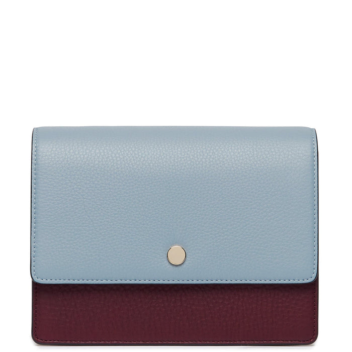 Mini Messenger Courier - Powder Blue + Bordeaux + Creme