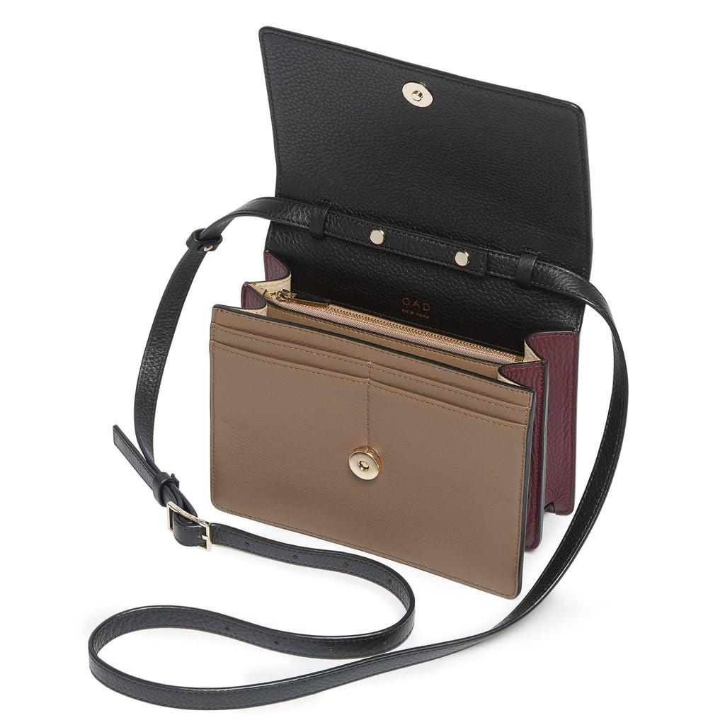 Mini Messenger Courier - True Black + Porcini + Bordeaux