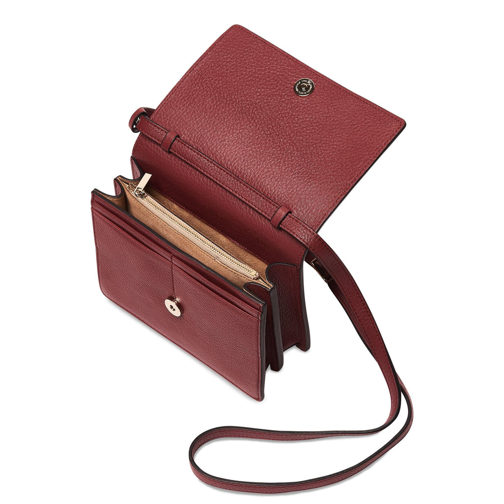 Mini Messenger Courier - Dark Wine
