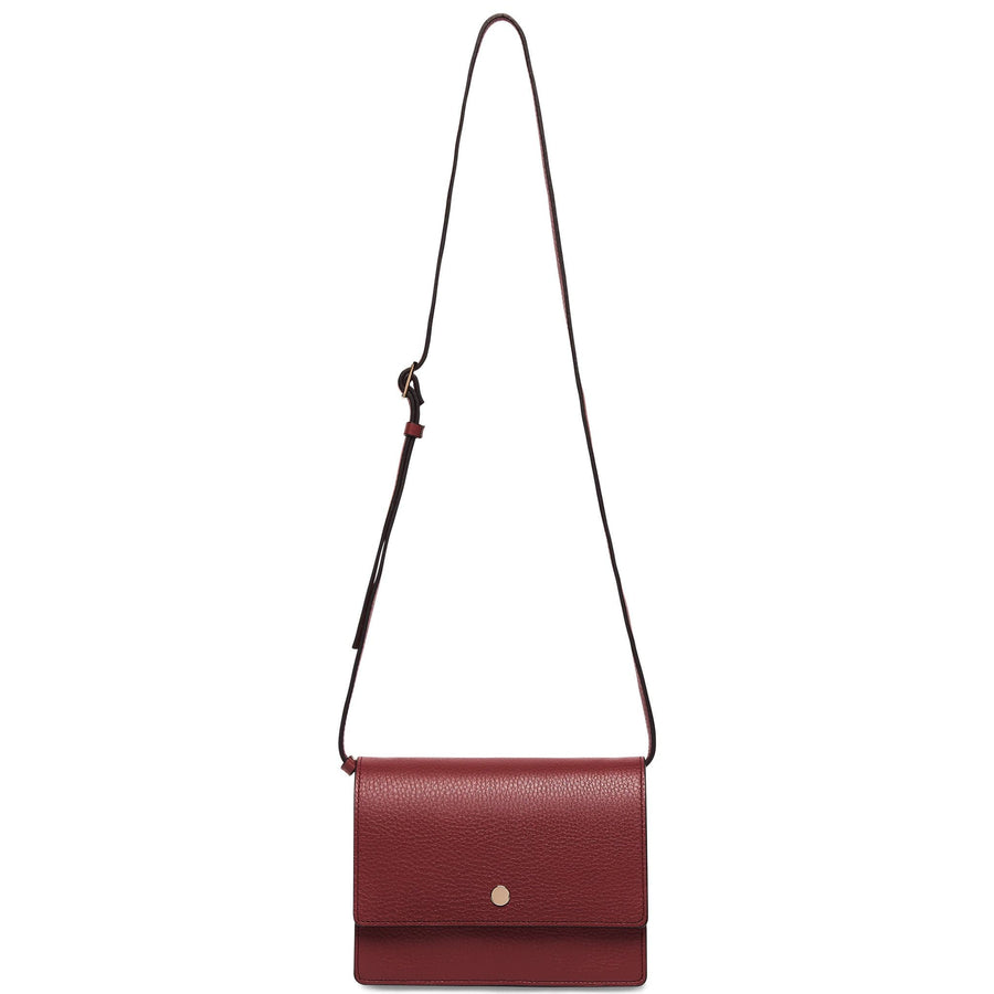 Mini Messenger Courier - Dark Wine - OAD NEW YORK
